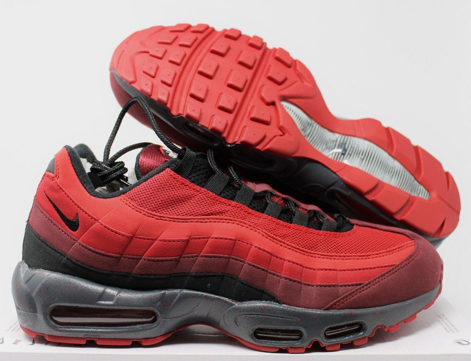 Nike Nike Nike Air Max 95 iD Red-Black-Grey sz 12 [818592-996] 322403