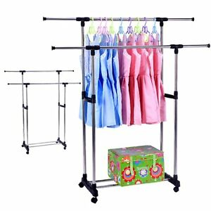 Adjustable Height Clothes Racks For Hanging Clothes With