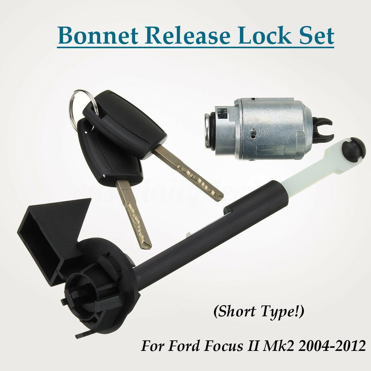 Motorhaube Schloss Reparatursatz 2 Schlüssel Für Ford Focus II Mk2//C-max//Kuga
