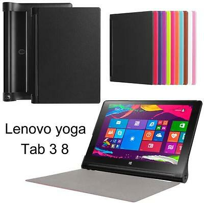 Ultra Slim Stand Flip Leather Cover Case For Lenovo yoga Tab 3 850F Tablet PC a