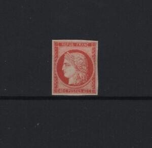FRANCE-STAMP-TIMBRE-N-5-a-034-CERES-40c-ORANGE-VIF-1850-034-NEUF-x-TB-SIGNE-R874