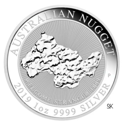 2019 Welcome Stranger Nugget 1oz Silver Coin