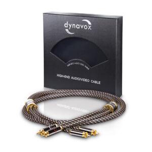 Dynavox-Black-Line-High-End-Hifi-Stereo-Rca-Rca-Cable-4-11-12ft-207481-New