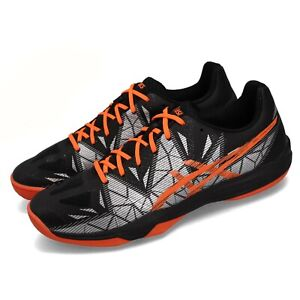 Asics-Gel-Fastball-3-Black-Orange-Men-Volleyball-Badminton-Shoes-E712N-001