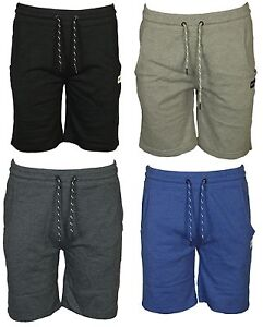 Jack-amp-Jones-Mens-Summer-Plain-Sweat-Shorts-Cotton-Drawstring-Waist-Casual