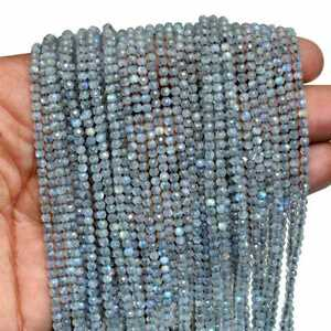 Prehnite faceted rondelle beads AAA 2mm 13 strand