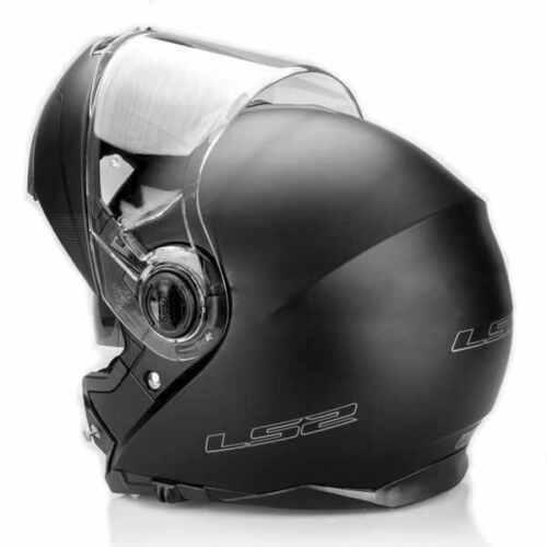 Reithelme & -schutzkleidung Ls2 Blitz Aufklappbar Vorne Motorrad Helm Matt Schwarz Motorradunfall Deckel