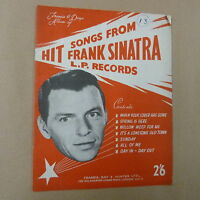songbook HIT SONGS FROM FRANK SINATRA