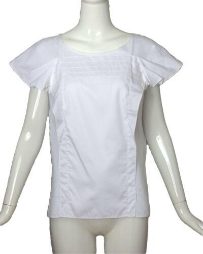 CAROLINA HERRERA- NWT White Cotton Ruffle Blouse,… - image 1