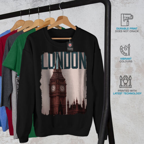 Men Uk Sweatshirt Big London New Black City Ben xZqwc61