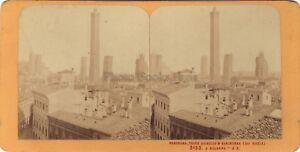 Panorama Bologna Italia Stereo J.Andrieu Parigi Albumina Ca 1870