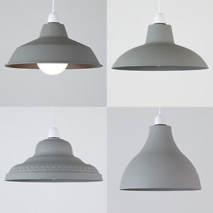 Image Is Loading Vintage Loft Concrete Style Metal Ceiling Pendant