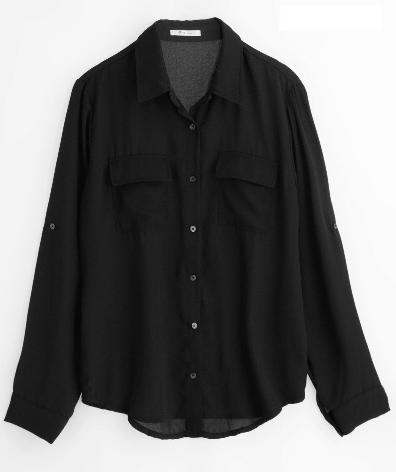 4da5625ec7222 Annakastle Womens Semi-Sheer Chiffon Button-Down Pocket Utility Shirt  Blouse S-M