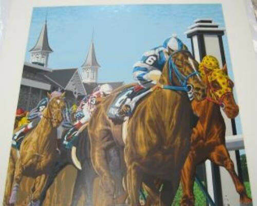 THE KENTUCKY DERBY SERIGRAPH BY RICK RUSH