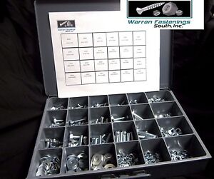 574 PC GRADE 5 NUTS, BOLTS, AND WASHERS ASSORTMENT ZINC PLATED