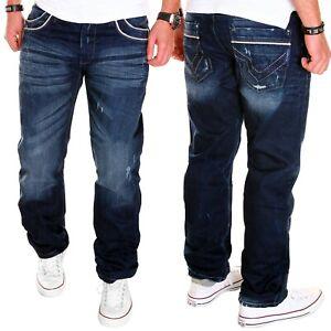 Cipo-amp-Baxx-Uomo-Jeans-Chino-Blu-Kosmo-Pantaloni-Chino-Pants-LUPO-Clubwear-Nuovo-j-5-9