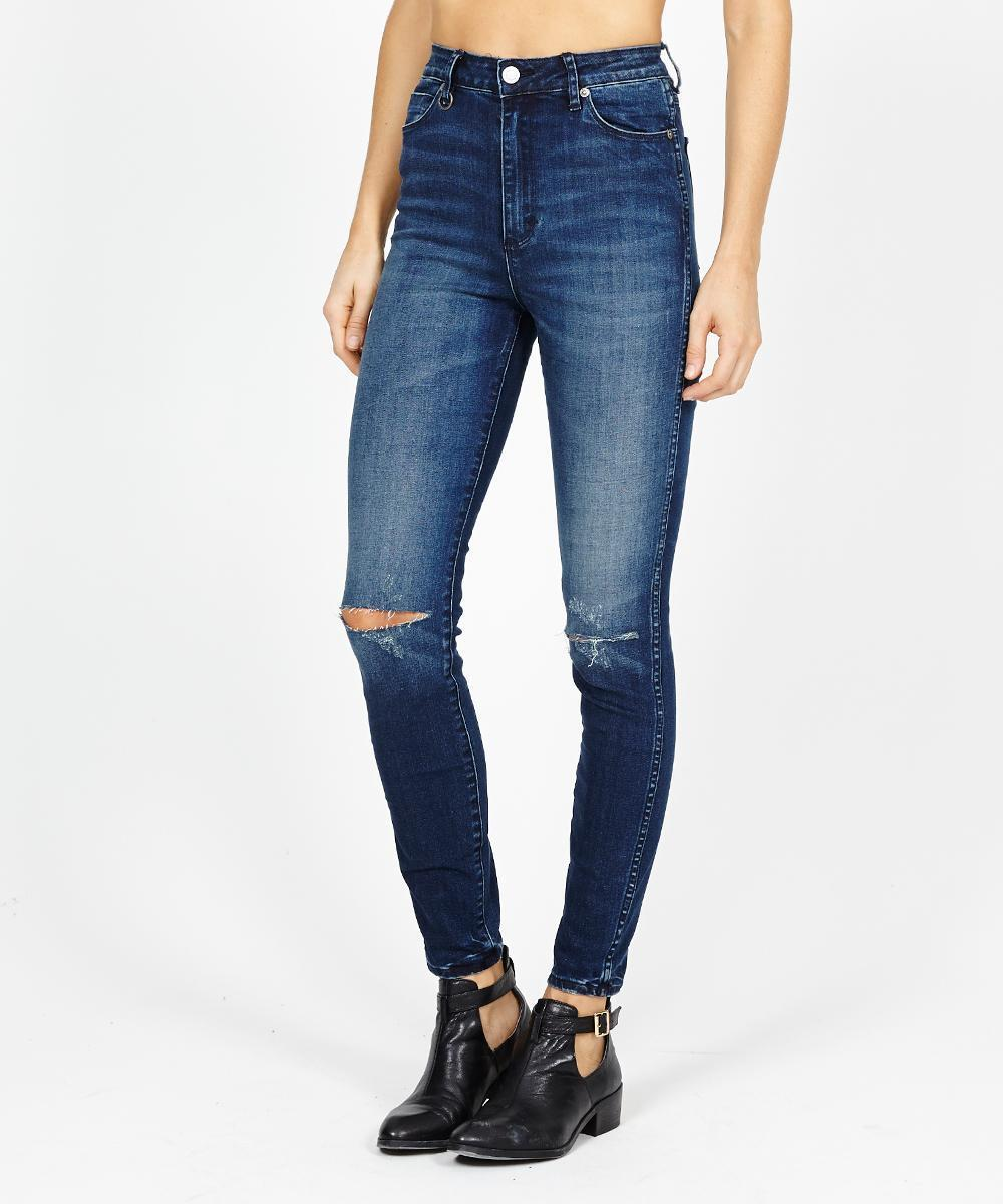 NWT Neuw Marilyn High Rise Skinny Ankle Jean in Cleaver Distressed - Size 26 32