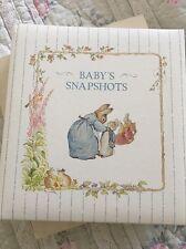 Vintage Baby Snapshots Photo Album CR Gibson Beatrix Potter Peter Rabbit New