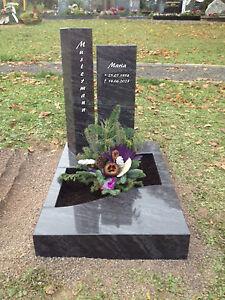 granit grabstein urnenanlage urnengrabanlage mit einfassung 70 x 100cm 16 348 ebay. Black Bedroom Furniture Sets. Home Design Ideas