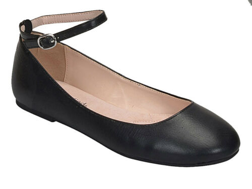 City Classified Women/'s Cheney Closed Toe Flats With Thin Angle Straps