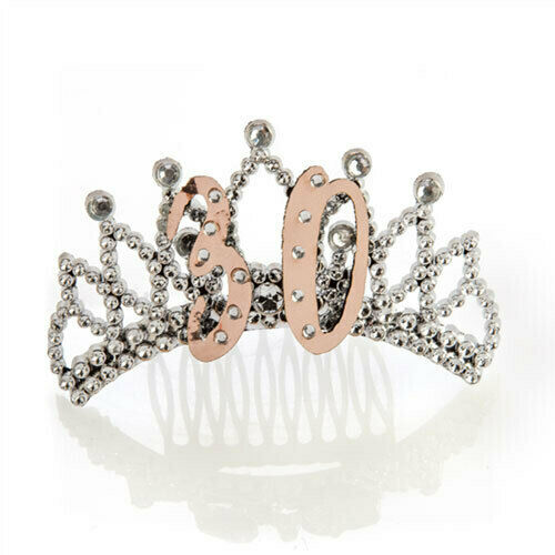 30TH Rose Gold and Silver Tiara