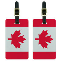 Canada Flag Luggage Suitcase Carry-On ID Tags Set of 2