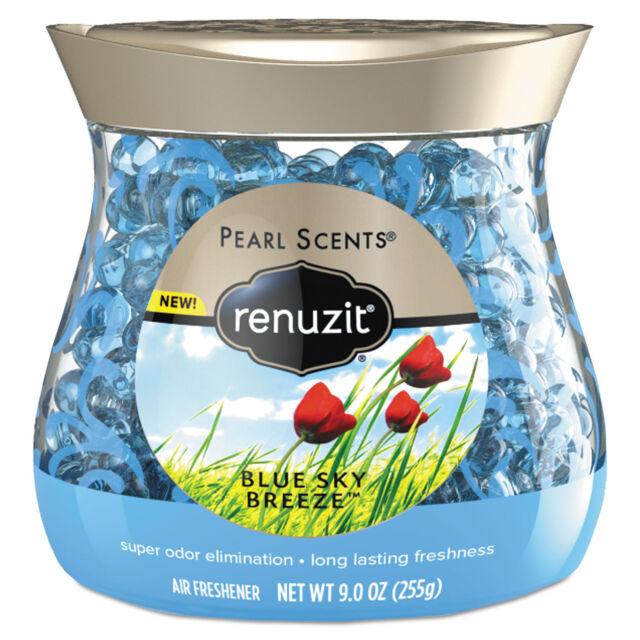Renuzit Pearl Scents Odor Neutralizer Blue Sky Breeze 9 oz Jar 8/Carton 02216CT