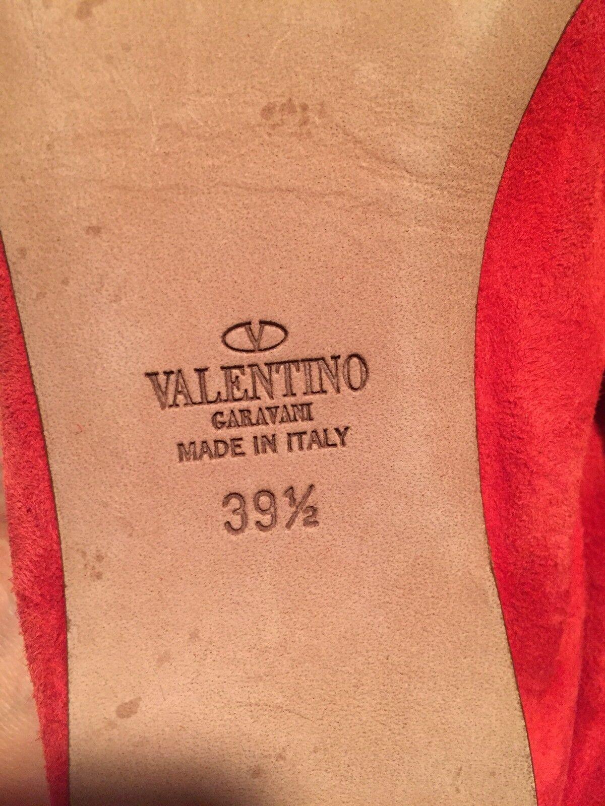 Valentino Ballerine Lacet   Ballets Plats Cuir Suédé Suédé Suédé Rouge 39.5 9 4825d1