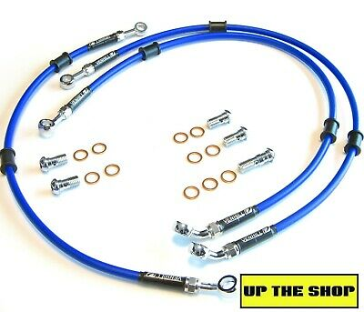 YAMAHA YZF R6 1998-02 VENHILL F/&R s//steel braided brake line hose set