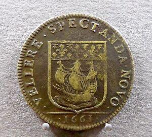 Medaille-Jeton-Premier-Eschevin-Mr-Claude-Prevost-1661-Louis-XIV