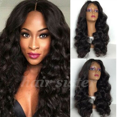 130% Density Brazilian Human Hair Wig Silk Lace Front Full Lace Wig Loose Wave h