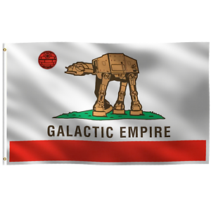 Yard Decoration Porch 3x5 ft Cali Star Wars Galactic Empire Flag Banner Wall
