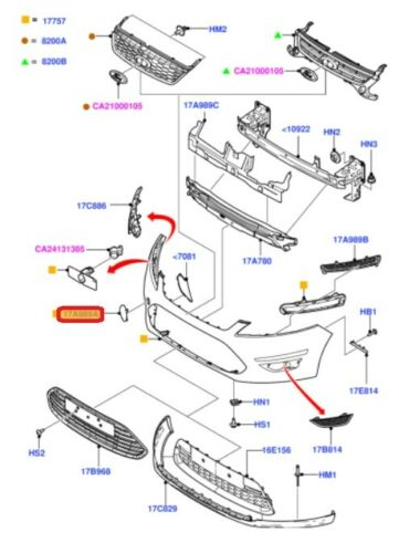 NUOVO originale Ford Mondeo 10-14 gancio traino paraurti anteriore Eye Cover Cap innescato 1704623