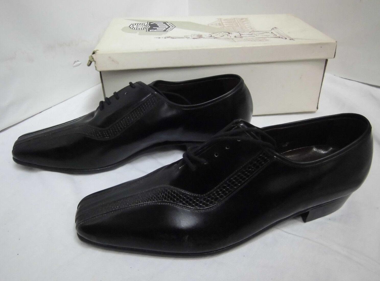 NOS Roland Schnürschuh schwarz Leder Halbschuh True Vintage Gr.7,5 shoe Vintage