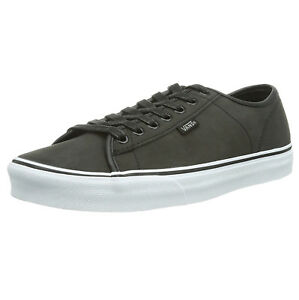 Low Skater Hombres Leather Buck Entrenadores Plimsolls Shoes Vans Ferris White Gris Pewter d7xFXqEww