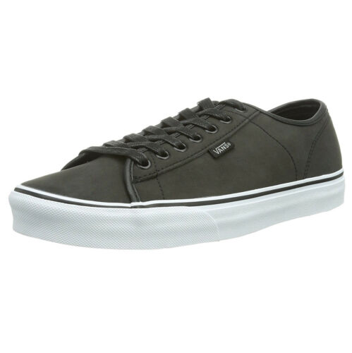 Entrenadores Vans Leather Low Plimsolls Shoes White Pewter Gris Ferris Skater Buck Hombres TTwq6frnv