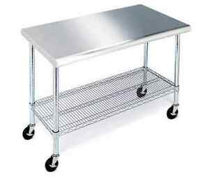 Incroyable Image Is Loading Commercial Prep Table  Stainless Steel Cart Kitchen Equipment