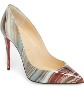 65272a21a Image is loading Christian-Louboutin-Galaxy-Beige-Pigalle-Follies-Pointy -Toe-