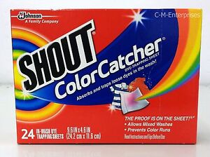 Shout Color Catcher Dye Trapping Laundry Sheet 24 sheets 46500622489 ...