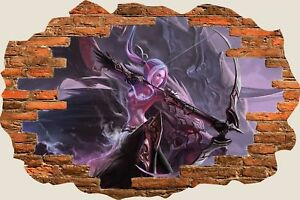 3D-Hole-in-Wall-Fantasy-Creatures-Lady-Slayer-View-Wall-Sticker-Decal-Mural-975