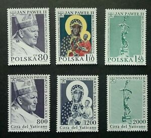 [SJ] Vatican - Poland Joint Issue 80 Years Of John Paul II 2000 (stamp pair) MNH
