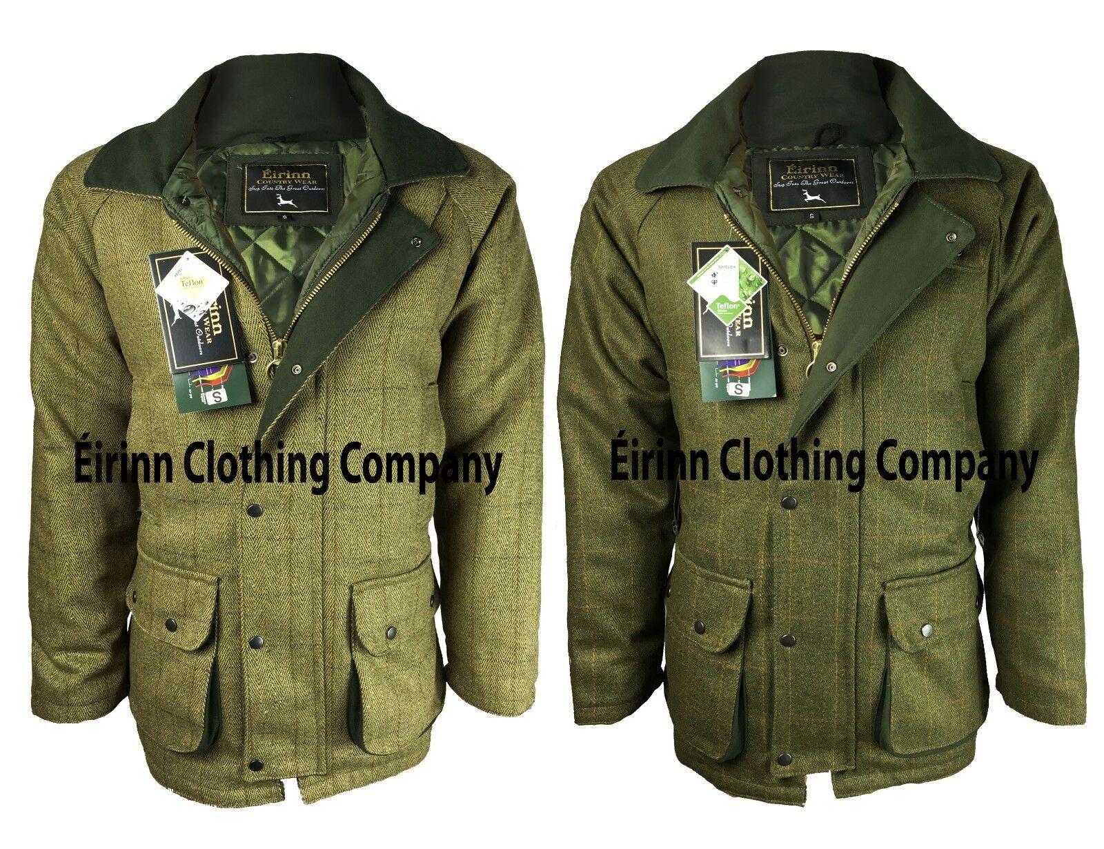 De los hombres eirinn Country  Wear Chaqueta De Tweed Derby De Teflón Abrigo de disparo de caza  ¡No dudes! ¡Compra ahora!