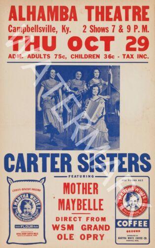Carter Sisters Mother Maybelle 1953 Vintage Concert Poster