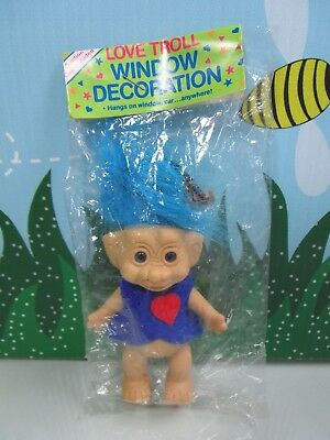"LOVE TROLL WINDOW DECORATION - 5"" Giftco Troll Doll - NEW IN ORIGINAL WRAPPER"