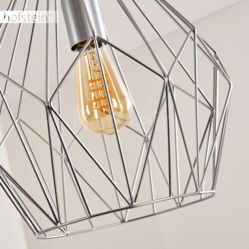 Retro Design Hänge Leuchten Ess Wohn Schlaf Zimmer Pendel Lampen silberfarben