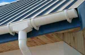 pvc dachrinne set 8 00 m 100 mm rg100 fallrohr 3 m. Black Bedroom Furniture Sets. Home Design Ideas