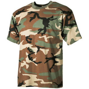 US-Military-Style-Top-Army-Hunting-Woodland-Camo-Tee-Mens-Combat-T-Shirt-S-3XL