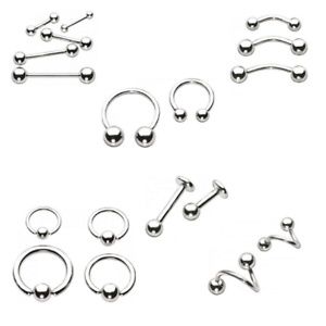 Titanium-Body-Piercing-Jewellery-UK-Barbell-Ring-Labret-Stud-BCR-1-2mm-1-6mm