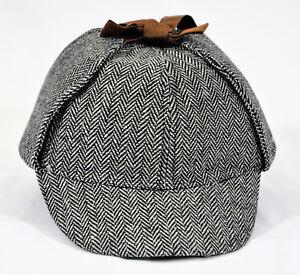 Image is loading DETECTIVE-SHERLOCK-HOLMES-DEERSTALKER-COSPLAY-HAT-AS-SEE- 212ac1b80093