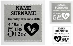 Newborn baby gift vinyl sticker for box frame personalised baby image is loading newborn baby gift vinyl sticker for box frame negle Images